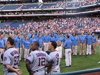 The Rainbow Chorale sings at the Phillies Game